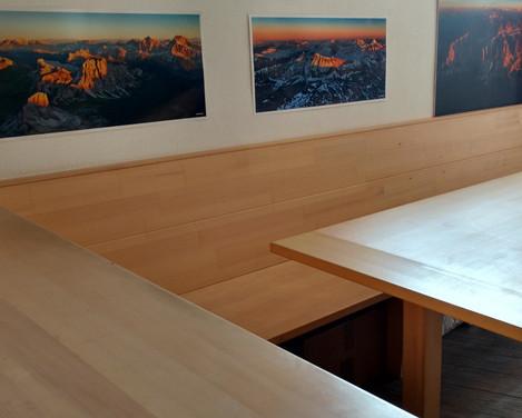 Tavolo e giropanca in Abete Valdifiemme