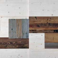 collage in legno antico recuperato