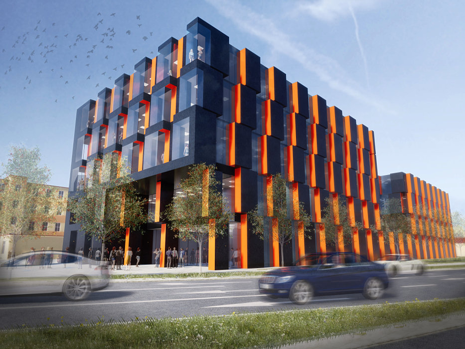 Nowy budynek Wydziału Nauk o Wychowaniu Uniwersytetu Łódzkiego w Łodzi