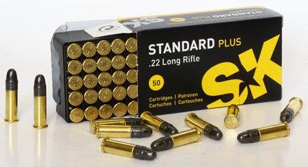 Патрон 5,6 (.22LR) Lapua STANDART plus SK (в пачке 50 шт, цена 1 патрона)