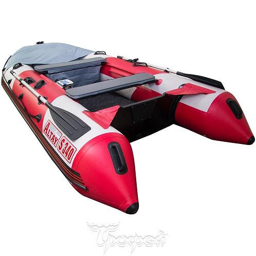 Лодка Алтай S340 LUXE (белый/красный) V1