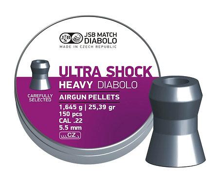 Пули JSB Ultra Shock Heavy Diabolo 5,5 мм, 1,645 грамма, 150 штук