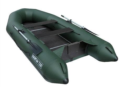 Лодка Капитан Т330 (киль+пол) зеленая
