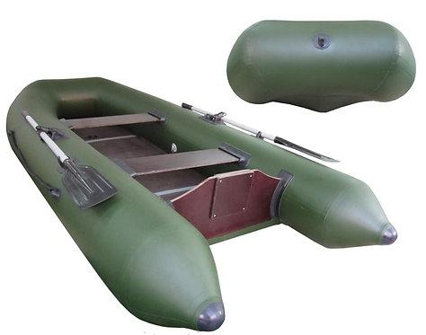 Лодка Капитан Т300 под мотор (киль+пол) зеленая