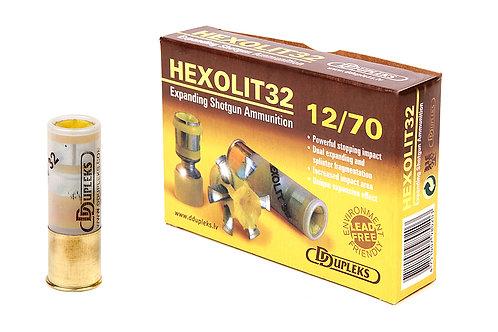 Патрон 12/70 пуля Hexolit 32гр DDuplex (цена одного патрона)