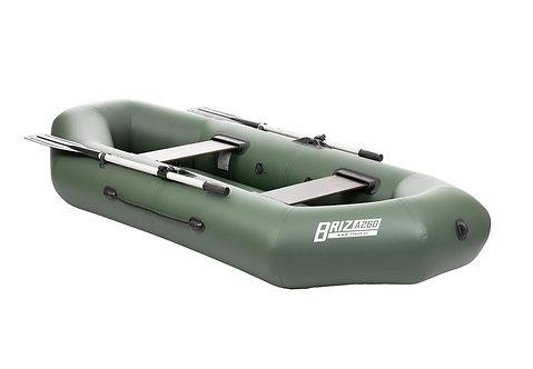 Лодка Бриз А260 (надувное дно, зеленый)