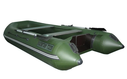 Лодка Капитан Т320 под мотор (киль+пол) зеленая