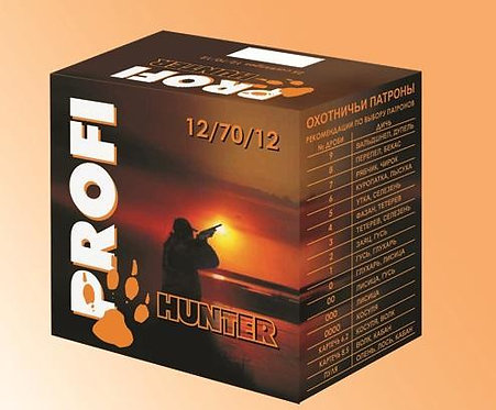 Патрон 12/70 №00 32гр Азот PROFI HUNTER (в пачке 25 шт, цена 1 патрона)