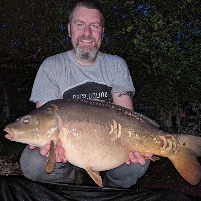 Biggest so far caught just as it started to get dark last night at 18lb 11iz mirror