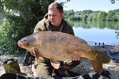 Ben Flockton with a 29lb Zig caught Mirror