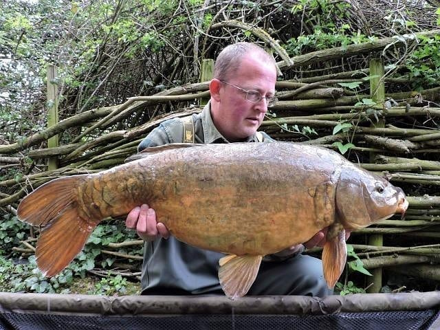 An old warrior, and the carp 😉, Chris bagged this old looking for character even when he said he wa