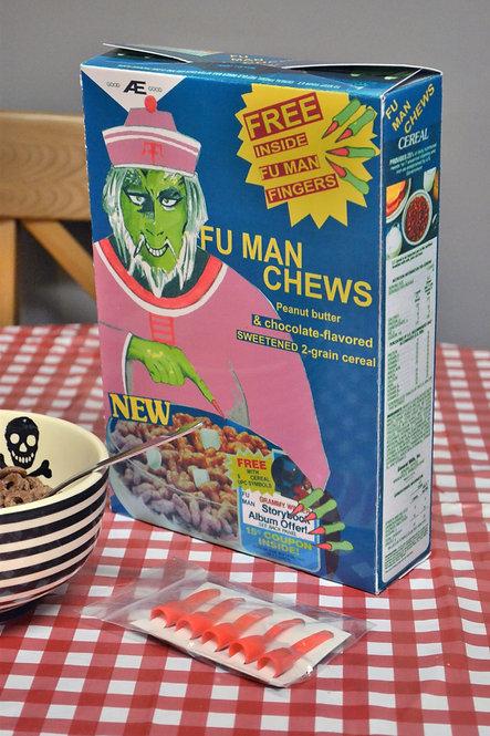 Nightmare on Elm street part 2 Fu man Chews Cereal Box