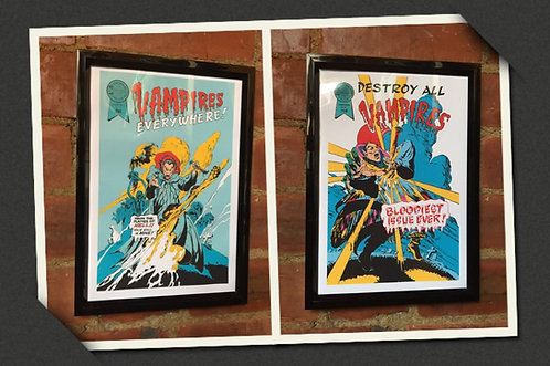 Lost Boys Vampires Everywhere& Destroy All Vampires A4 Print