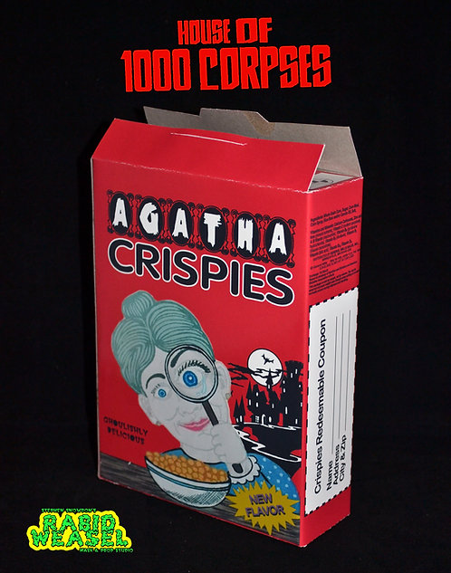 House of 1000 Corpses - Agatha Crispies Cereal Box