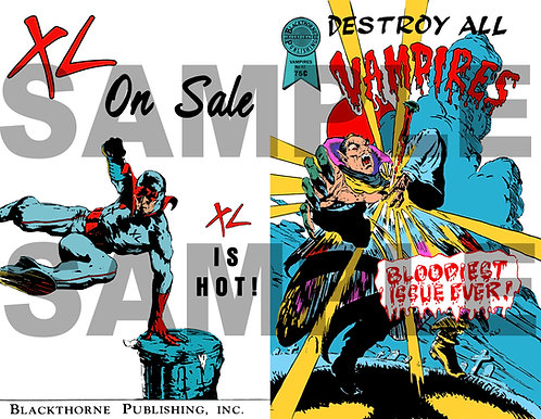 Destroy All Vampires Comic Replica