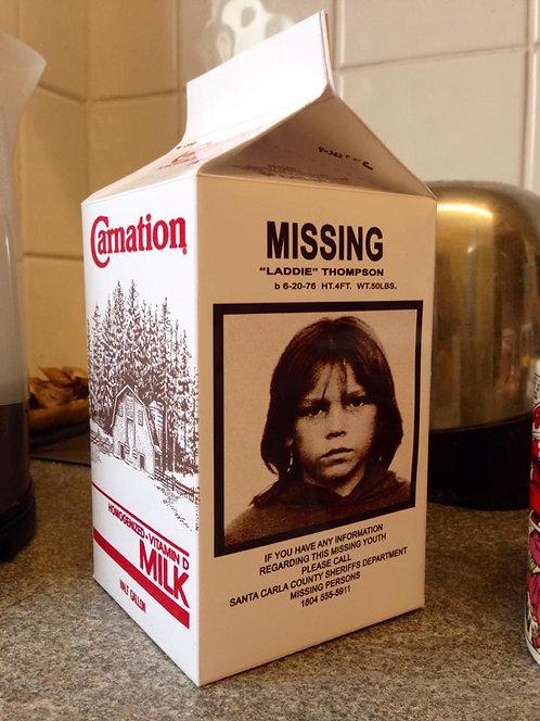 Lost Boys - Laddie Thompson Milk Carton