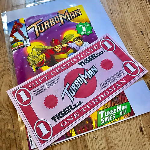 Turboman Gift Certificate Replica