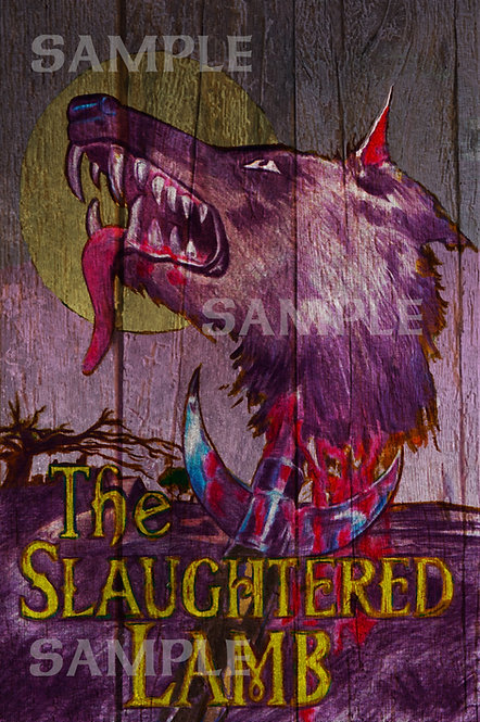 Slaughtered Lamb Pub Sign - A3 Print