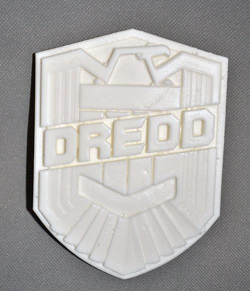 Judge Dredd Raw Blank Resin Badge