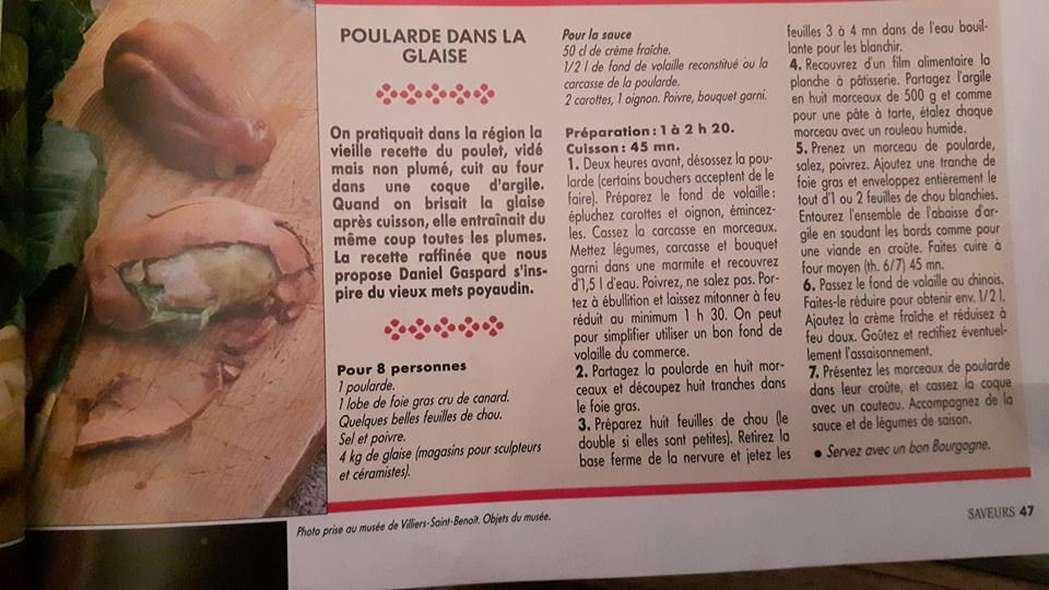 Recette testée par Sabine Seguin, potière à Saint-Amand-en-Puisaye