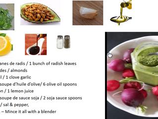 Pesto de fânes de radis