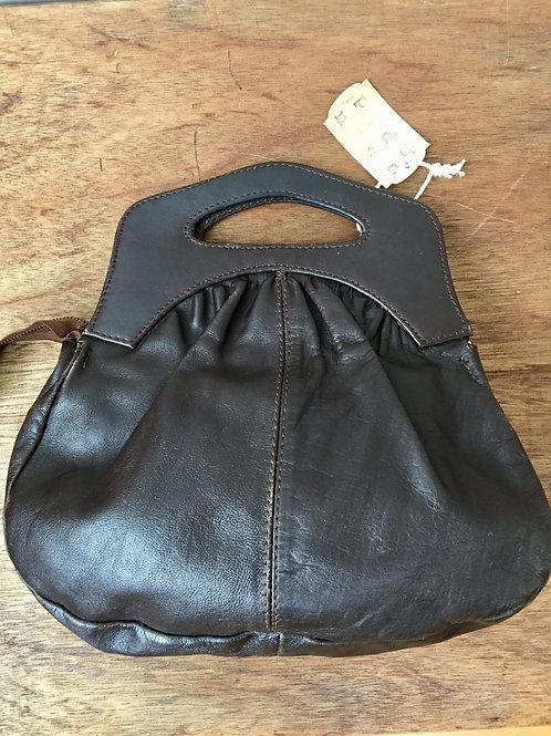 Bruin leren vintage tas afm: 33 x 30 cm h x b helaas geen hengsel