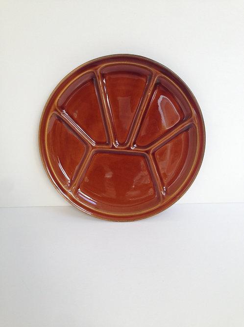 Vintage bruin geglazuurde borden