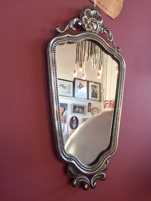 Tinnen spiegel afm: 31 x 17 cm