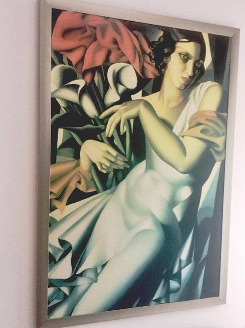 Kunstwerk Tatiane de Lempicka op metaal 138 x 93 cm gereserveerd