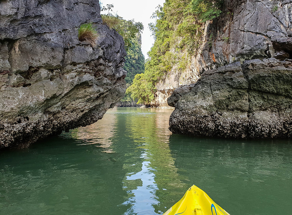 Travelling by canoe