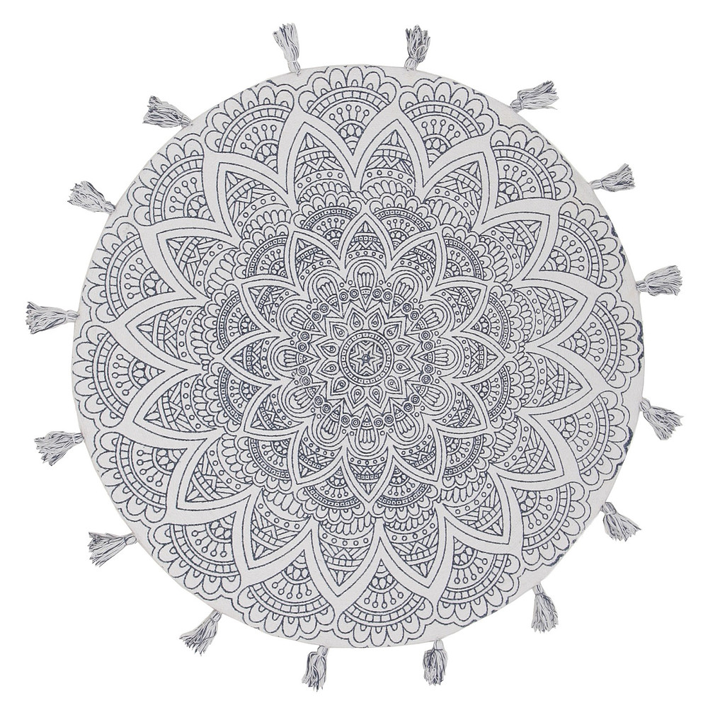 Mystic White Modern Cotton Rug
