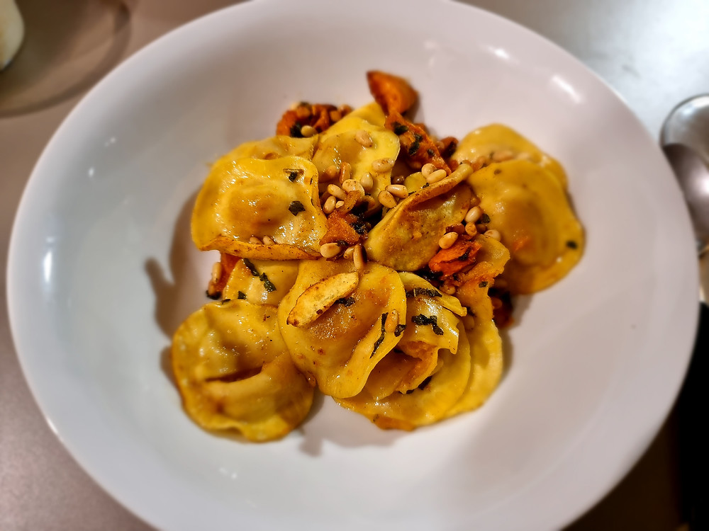 RANA Pasta with Pumpkin and Pine Nuts