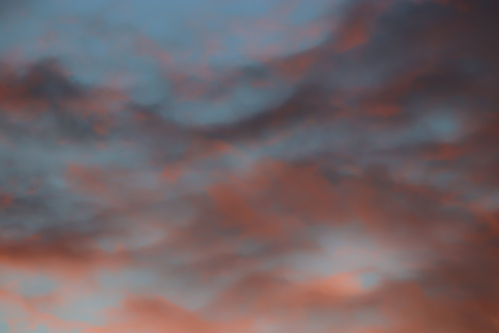 Blue and Orange Sky and Clouds