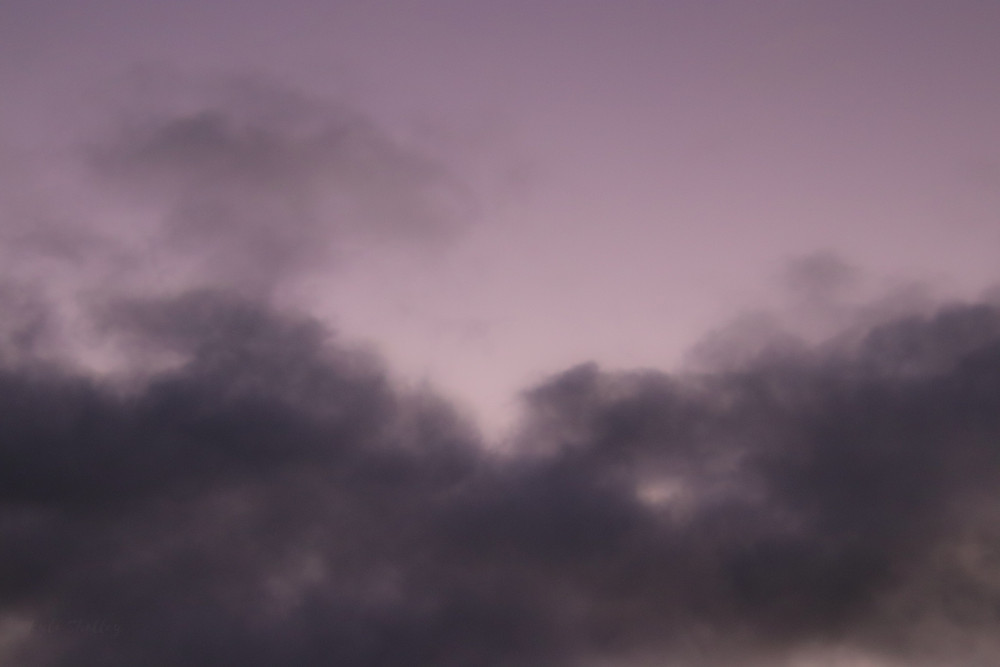 Pink Sky and Purple Clouds