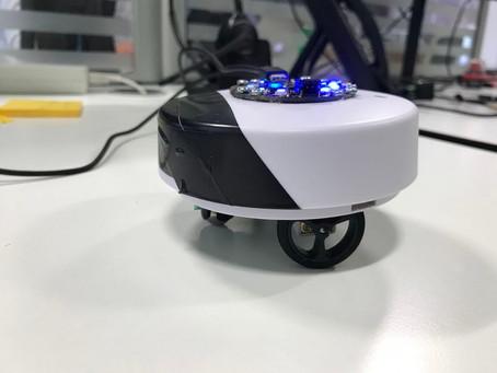 Robot built inside a smoke alarm