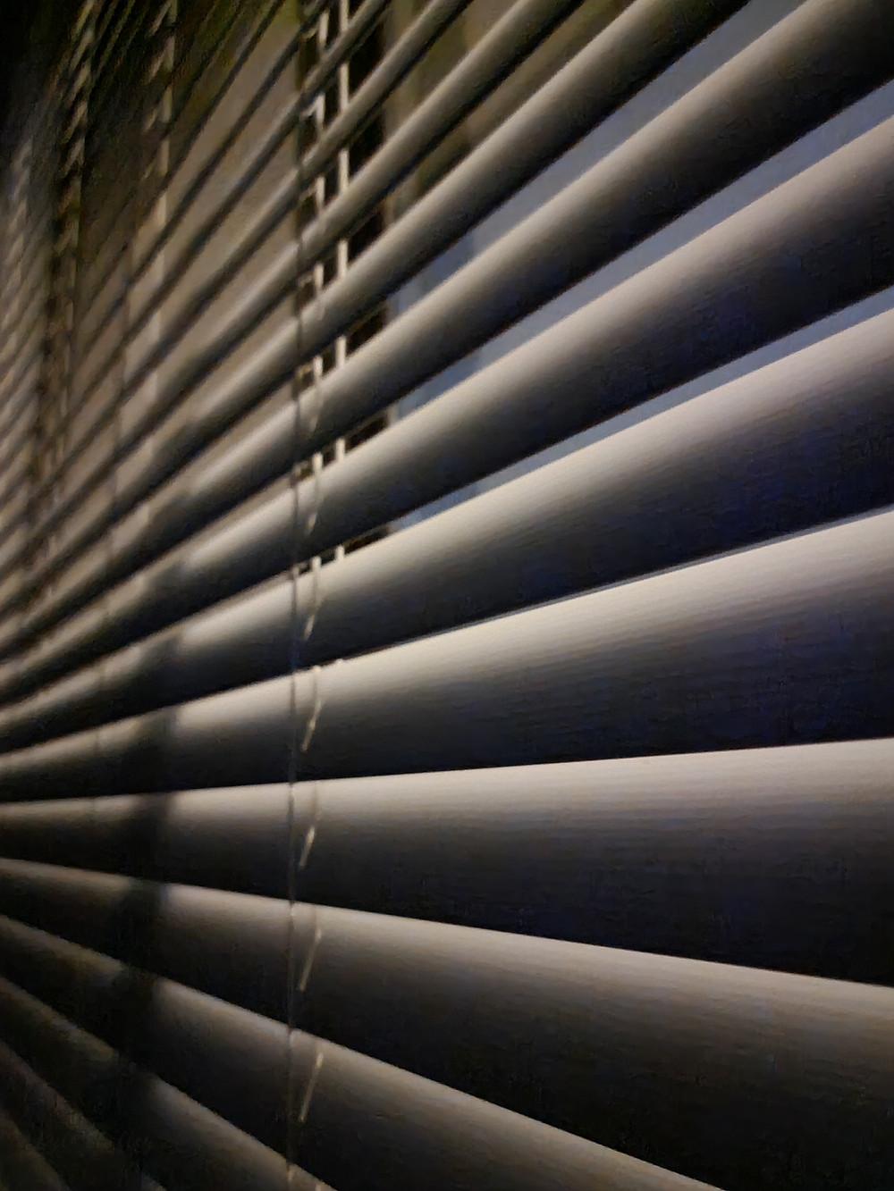 Horizontal Blinds at Night