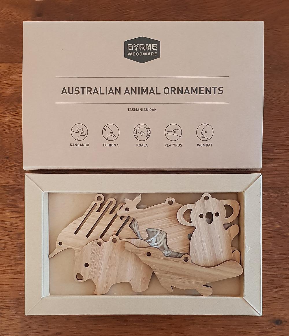 Australian Native Animal Ornaments Set
