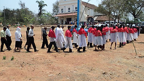 Procession at a Feast Day in Batim Goa India