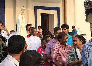 Fatima Day Celebration Batim Goa India