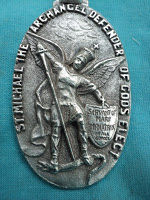 The back of the Mediatrix of All Graces Medal
