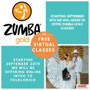 FREE ZUMBA AND FOLKLORICO VIRTUAL CLASSES!