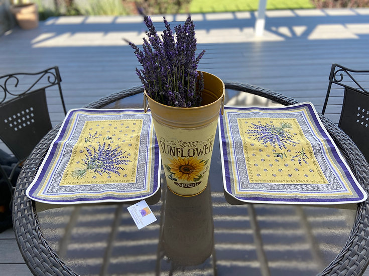 Lavender Embroidered Placemats