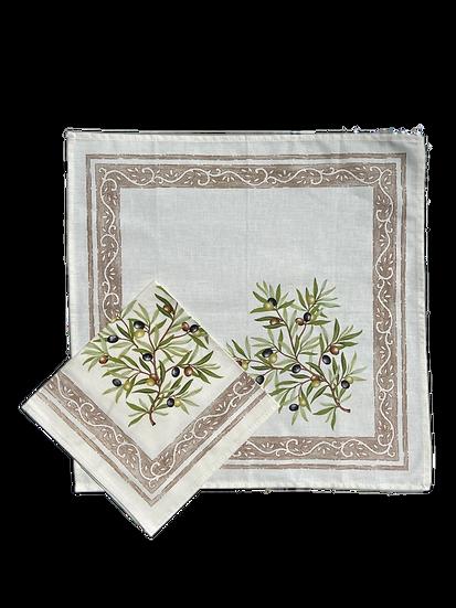 Olive Natural Cotton Napkins