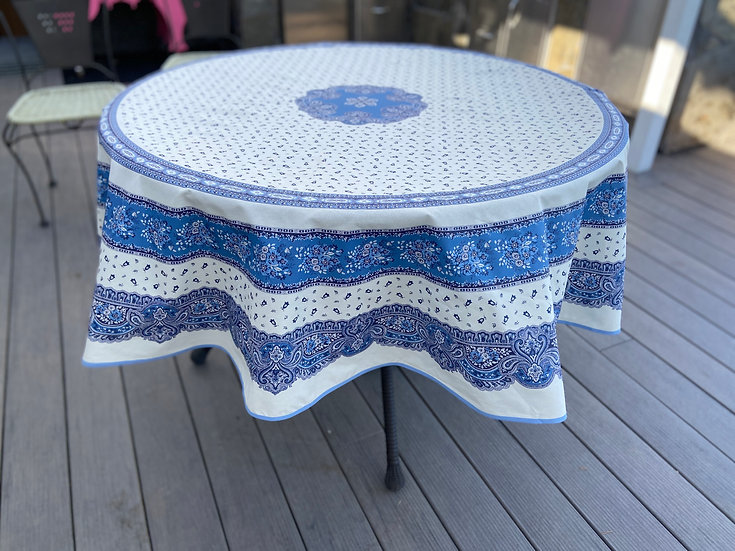 Provence Tradition White Coated Cotton Tablecloth