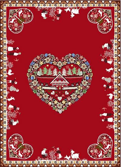 Holiday Printed Dish Towels: Coeur d'Hiver