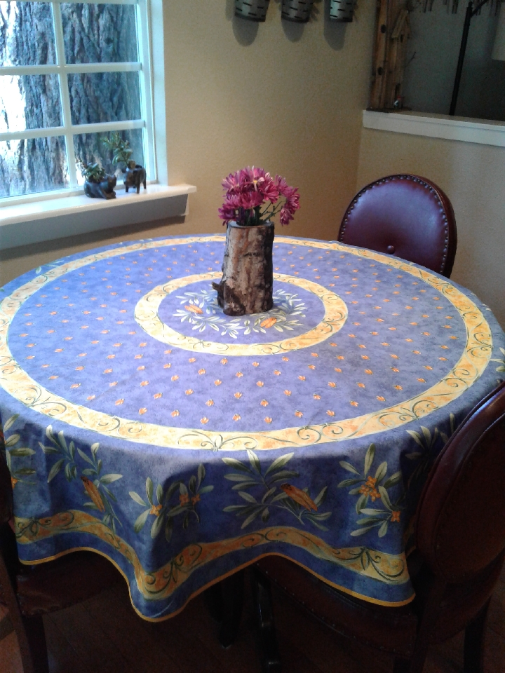 La Cigale Cotton Round Tablecloth