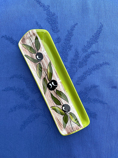 Olive Green Spoon Rest