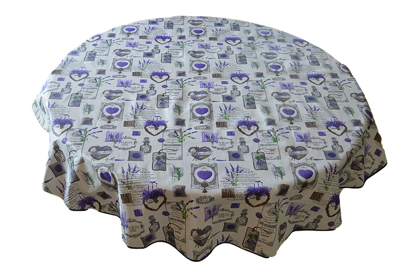 Lavender Love Coated Cotton Tablecloths