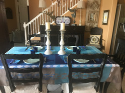 Le Grand Bleu Jacquard Tablecloth