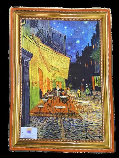 Cafe le Soir Framed Van Gogh Dish Towel